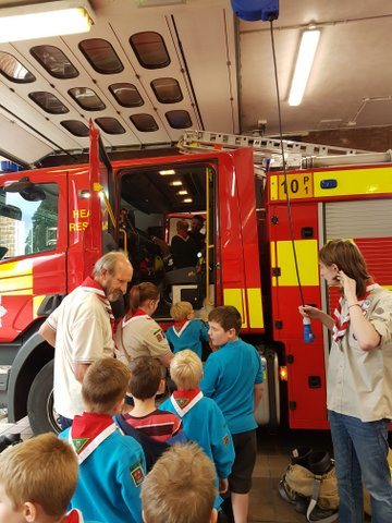 Beavers visit Colchester Fire Station